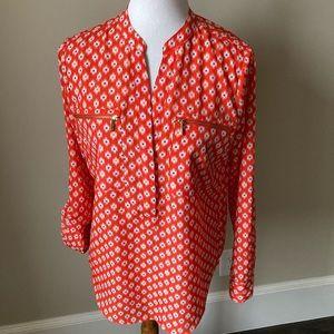 Michael by Michael Kors orange printed blouse